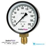 مانومتر 200 psi خشک عمودی صفحه 10 سانت InstruMate