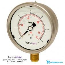 مانومتر روغنی InstruMate صفحه 10 سانت عمودی مدل 213.53.100