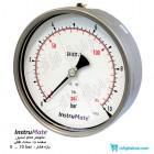مانومتر تمام استیل InstruMate صفحه 16 سانت افقی مدل 113AA