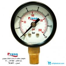 مانومتر 14 بار خشک عمودی صفحه 40 میلیمتر Press