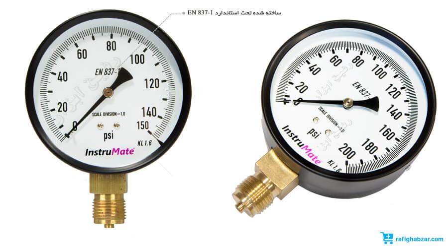 مانومتر خشک عمودی صفحه 10 سانت InstruMate 150 psi