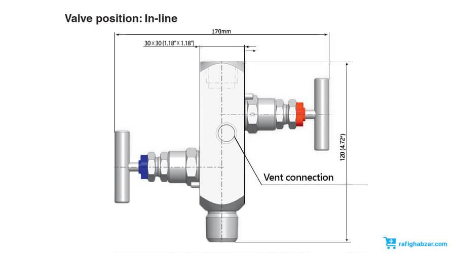 شیر سوزنی InstruMate Needle Valve مدل IV20
